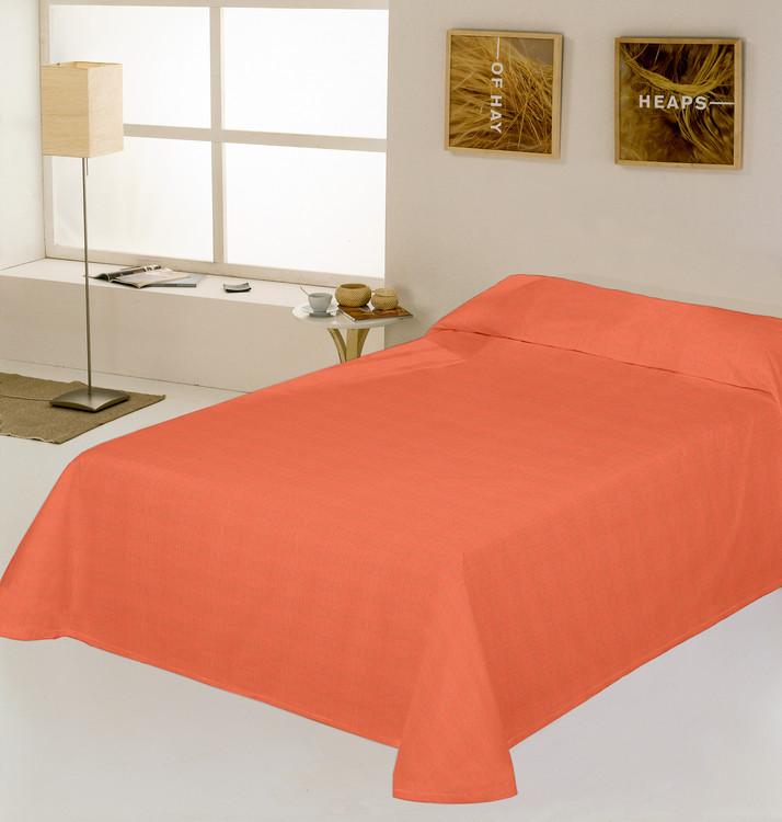 COLCHA RUSTICO LISO Naranja 180/200 cms Naranja 150/160 cms Naranja 135/140 cms Naranja 105 cms Naranja 90 cms
