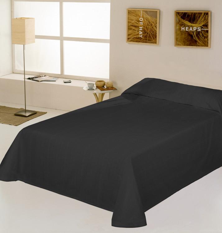 COLCHA RUSTICO LISO Negro 180/200 cms Negro 150/160 cms Negro 135/140 cms Negro 105 cms Negro 90 cms