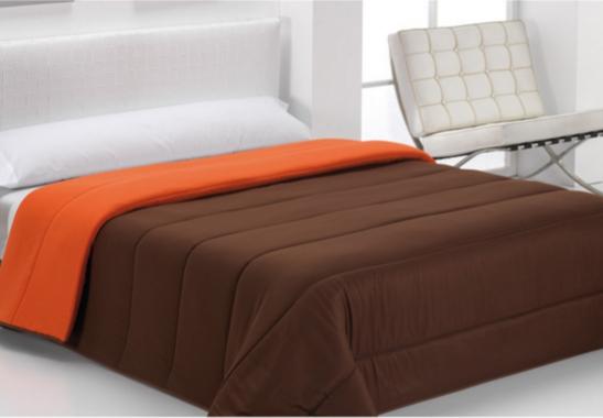 COMFORTER BICOLOR chocolate - naranja 105 cms chocolate - naranja 180 cms chocolate - naranja 150 cms chocolate - naranja 135 cms chocolate - naranja 90 cms