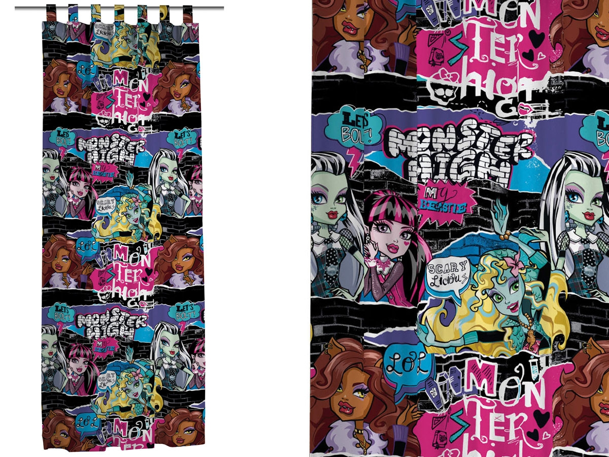 CORTINA CON TRABILLAS THRILLER DE MONSTER HIGH