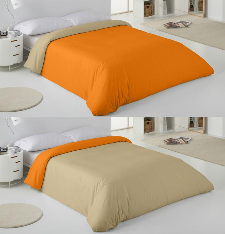 FUNDA NÓRDICA BICOLOR Naranja / Camel 180 cms Naranja / Camel 150 cms Naranja / Camel 135 cms Naranja / Camel 105 cms Naranja / Camel 90 cms