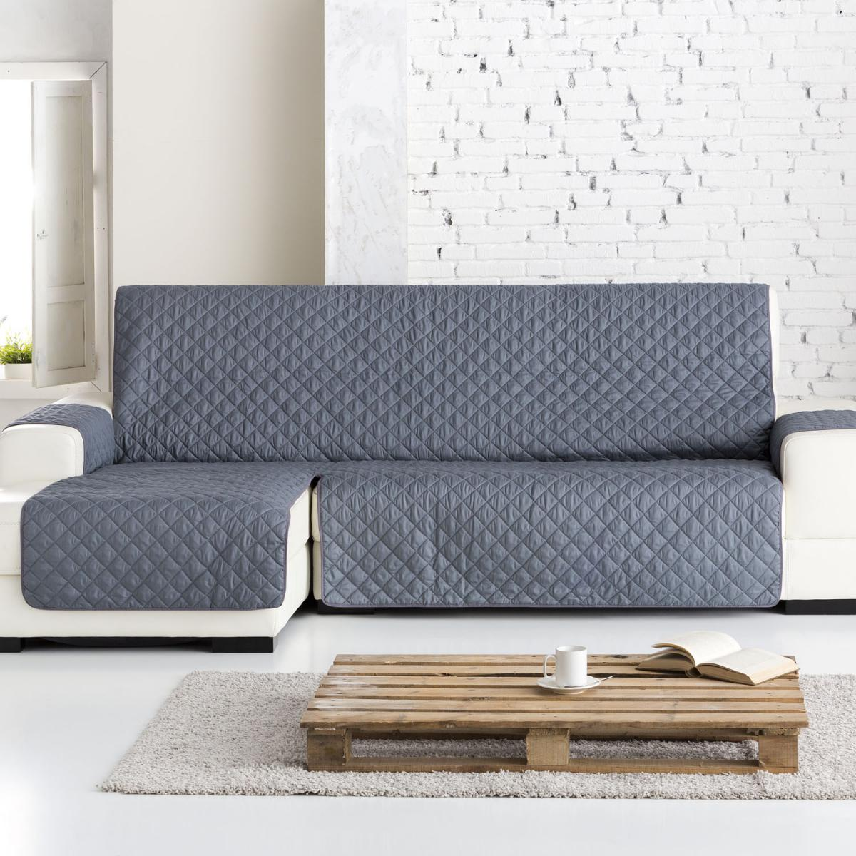 Funda de sofa chaise longe dual quilt - Funda de sofa chaise longue ...