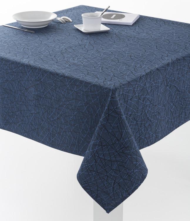 MANTELERIA BURGOS DOBLADILLO Azul Marino 140x300cm Azul Marino 140x250cm Azul Marino 140x200cm Azul Marino 140x140cm Azul Marino 100x140cm